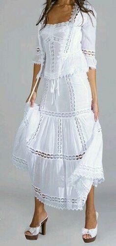 Ideas dress casual white shoes for 2019 Dress Skirt, Lace Dress, White Dress, White Fashion, Boho Fashion, Womens Fashion, White Casual Shoes, White Shoes, Evening Dresses