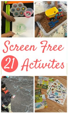 21 Screen Free Activities for Toddlers