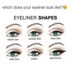 different eyeliner types