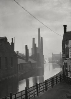 The Canal, Manchester, Lancashire, by by E.O. Hoppé, 1925.
