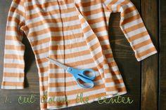 Transform your t shirt into a cardigan