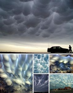 Some fantastic examples of Mammatus Clouds.