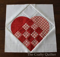 Large Nordic Heart Quilt Block Tutorial. More
