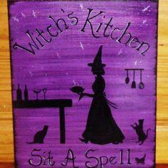 Witchs Kitchen Sign.