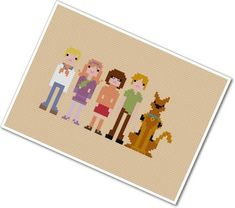 Scooby Doo gang cross stitch pattern-Etsy $6.00 (I need this for kids!!)