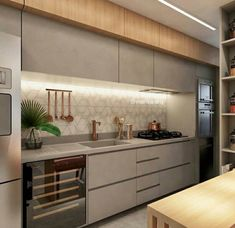 Image may contain: kitchen and indoor Kitchen Room Design, Kitchen Cabinet Design, Modern Kitchen Design, Kitchen Layout, Home Decor Kitchen, Interior Design Kitchen, Kitchen Furniture, Modern Kitchen Interiors, Modern Kitchen Cabinets