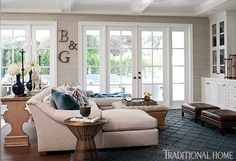 Giuliana And Bill Rancic's Amazing Home! Family room seating