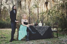 Tristina   Randy's Southern Gothic Engagement from Jeanne Mitchum Photography.