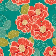 Removable Wallpaper (fab tac) - Summertime Flowers