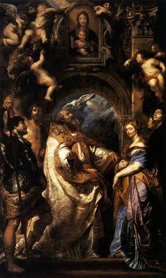 The Ecstasy of Saint Gregory the Great  Peter Paul Rubens Date: 1608