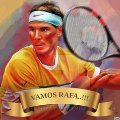 Rafael Nadal, Tennis Players, Baseball Cards, Illustrations, Illustration, Illustrators