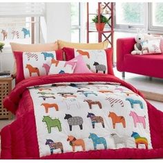Dala Horses (I think I have some fabric like this from IKEA a few years ago)