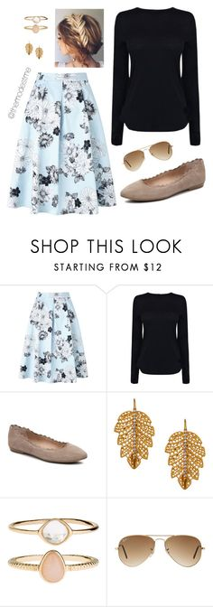 """""""Simple 7"""" by themodestme ❤ liked on Polyvore featuring Miss Selfridge, Helmut Lang, Audrey Brooke, Marika, Accessorize and Ray-Ban"""