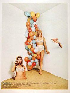 1966 Plaza 8 underwear original vintage advertisement.
