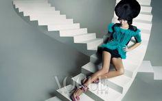 """Flower Bomb"" | Model: Han Hye Jin, Photographer: Hong Jang Hyun, Vogue Korea, May 2010"