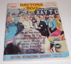 Vintage Daytona 500 Nascar Racing Program Book 1971 13th Annual Grand Prix Auto