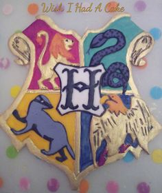 'Hogwarts' Plaque Cake Topper by Wish I Had A Cake