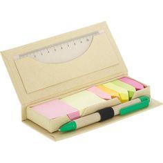 Promosyon GD-002 - 16x6x2 cm  Geri Dönüşüm Ürünler Renkli yapışkanlı notluk  Yapışkanlı Not Kağıdı  80gr 100lü  12cm PVC Cetvel  Tükenmez Kalem  Baskı şekli: Serigrafi