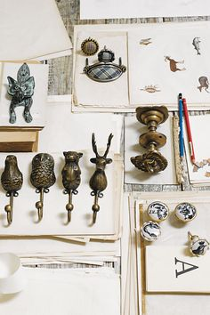 Anthropologie: hooks and door nobs