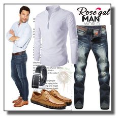 """""""Man World"""" by dzemila-c ❤ liked on Polyvore featuring rosegal"""