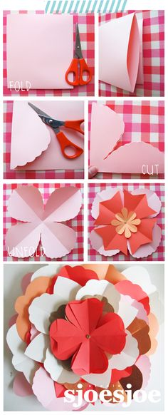 Tutorial Paper flowers by Studio Sjoesjoe