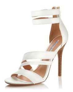 Grazia Strappy Sandal, White by Charles David at Last Call by Neiman Marcus.