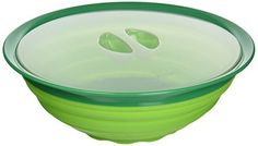 41058 Features: -5 Quart capacity. -Low profile storage. -Includes storage Lid. -Non-slip base. -BPA free. Food Safe: -Yes. Number of Items Included: -2. Product Type: -Salad bowl. Color: -Green. Pieces Included: -Bowl and lid. Style: -Modern. Pattern: -Solid Color. Dimensions: Overall Height... - http://kitchen-dining.bestselleroutlet.net/product-review-for-squish-collapsible-salad-bowl-with-lid/