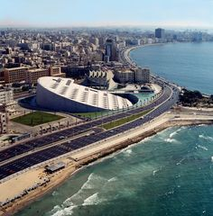 ALexandria Library, Egypt..and the Meditarranian Sea...I would LOVE to go back and spend more time in Alexandria...it's more modern than Cairo