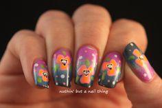 Flower nail art #nails #nailstagram #notd #nailart #nailit #nailpromote #nailed #nailedit #beauty #nuthinbutanailthing #manicure #nailartideas