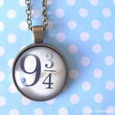 Harry Potter Platform 9 3/4 Round Cabochon Necklace Pendant HP Hogwarts Wizard…