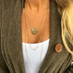Monogram Logan Layered Necklace