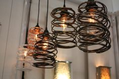 One day I want to live in a renovated barn with tall ceilings and big windows... and THIS will be my light fixtures :)
