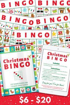 Create a lifetime of memories with these modern & fun Christmas bingo game cards - perfect for all ages & abilities Christmas Bingo Cards, Christmas Themes, Christmas Fun, Santa Bingo, Free Printable Bingo Cards, Easy Party Games, Snowflake Lights, Fall Games, Bingo Games