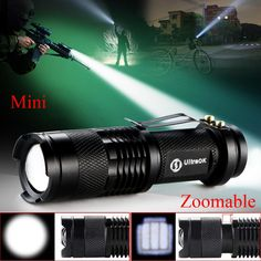High-quality Zoomable Adjustable Focus CREE Q5 LED 2000 Lumens Bright Mini Flashlight Torch penlight For AA/14500