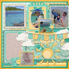 Layout using {Here Comes The Sun} Digital Scrapbook Kit by Snips and Snails Designs