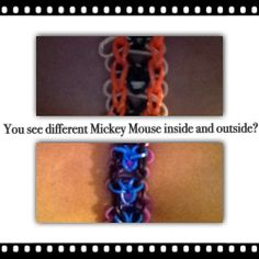You see the different of Mickey Mouse bracelets?