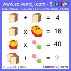 Solvemoji - Free teaching resources - Emoji math puzzle, great as a primary math starter, or to give your brain an emoji game workout. Mental Maths Worksheets, 1st Grade Worksheets, Happy Birthday Piano, Maths Starters, Math Logic Puzzles, Math Talk, Order Of Operations, Primary Maths, Counting Activities
