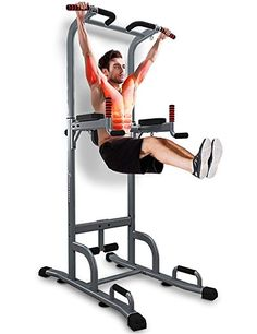 Shop ONETWOFIT Wall Mounted Pull up Bar and Dip Station 2 in Multifunctional Wall Mounted Power Tower, 8 Ways of Exercising, Maximum Weight: Free delivery and returns on all eligible orders. Diy Gym Equipment, Commercial Fitness Equipment, Home Made Gym, Gym Room At Home, Basement Gym, Garage Gym, Total Gym Workouts, Mini Gym, Dream Gym