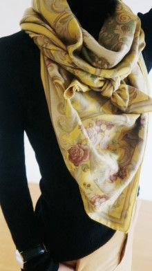 http://ameblo.jp/komatsu1108/entry-12120260342.html スカーフ巻き方  スカーフコーデ scarf arrangement アラフォーファッション エトロ ETRO