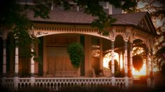 The front porch of Aurora Staples Inn bed and breakfast, Stillwater MN
