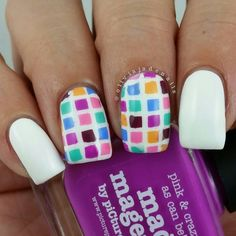 Next up for #clairestelle8june is squares. Now if anyone with super curved nails can s... | Use Instagram online! Websta is the Best Instagram Web Viewer!