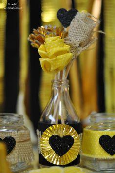 Inspiração Dia dos Namorados - Preto, amarelo e dourado
