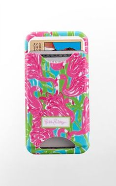 Lilly iPhone case with card slots...IN need this!!