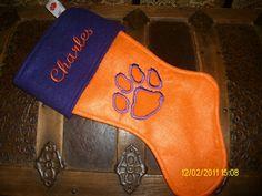 Clemson Tiger Christmas Stocking
