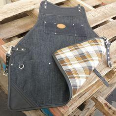 Image of Flannel Backed Denim Shop Apron Work Aprons, Cute Aprons, Denim Shop, Clothes Words, Jean Apron, Shop Apron, Apron Tutorial, Denim Ideas, Apron Designs