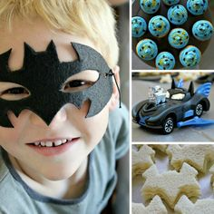 Batman Party ideas- love the home made mask! Batman Birthday, Superhero Birthday Party, 4th Birthday Parties, Birthday Fun, Birthday Ideas, Batman Party Supplies, Party Time, Party Fun, Just In Case