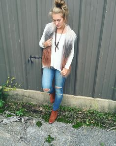 """f a b ' r i k on Instagram: """"here is our staff fav outfit for the #weekend featuring our new #dl1961 denim and #papercrane swing ribbed top $48 #fabrik #jonesboro #welovefall"""""""