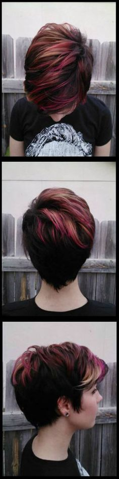 Oooooh, I soooo luv this, if only I looked okay with short hair   LOL     How To: Short Hair with Pravana Vivids Pink and Blonde Ombre
