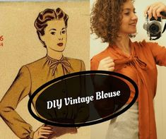 The Vintage Pattern Files: Free 1950s Sewing Pattern - Vintage Blouse
