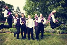 You have to love groomsmen with a sense of humor! Photo by Ashley B. #MinneapolisWeddingPhotography